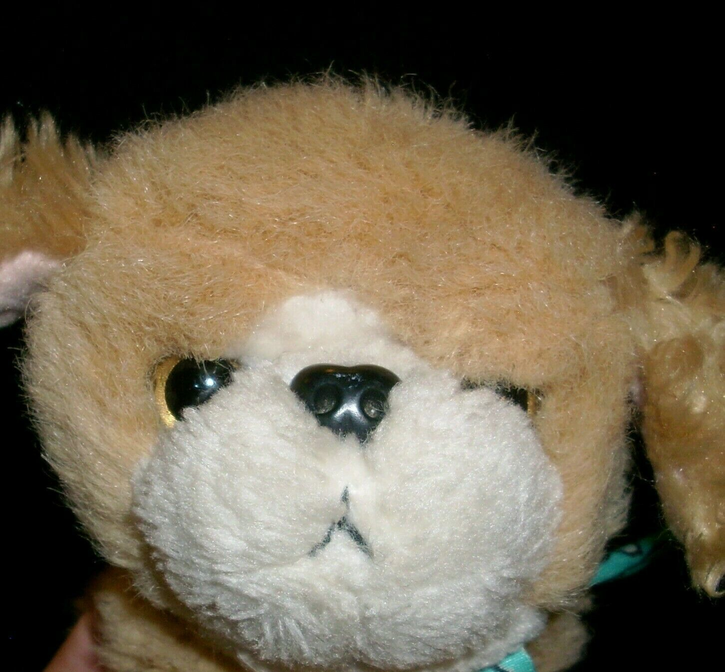 VINTAGE 1993 TYCO PUPPY PUPPY PUPPIES STUFFED ANIMAL PLUSH TOY PUP DOG TAN BOW image 3