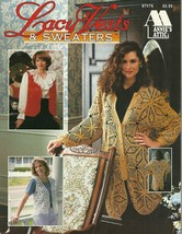 Annie's Attic Lacy Vests and Sweaters Pattern Booklet 87V76 Cardigans Cr... - $9.99