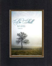 Be Still, and Know That I Am God - Psalm 46:10. . . 8 x 10 Inches Biblic... - $11.14