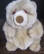"Applause Lou Rankin Light Brown Bear Plush very soft & cuddly 8"" tan beige  - $16.23"