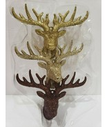 Silver Glitter Deer Ornament Winter Wonderland Home Decor Xmas Wedding S... - $24.99