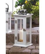 10016900 Gallery of Light Slim White Medium Highland Candle Lantern - $29.99