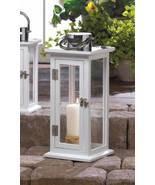 10016900 Gallery of Light Slim White Medium Highland Candle Lantern - $29.99