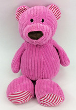 Animal Adventure Pink Teddy Bear Ribbed Texture Red Stripes Plush Stuffe... - $38.59