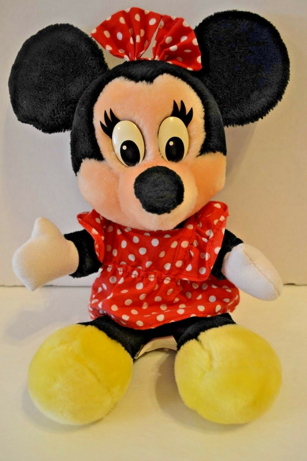 "Vintage Disney World Minnie Mouse Stuffed Plush Disneyland 14"""