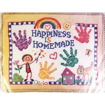 Happiness is Homemade Needlepoint Kit 11 x 14 Bucilla Linda Gillum c2646 - $24.99
