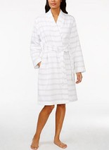 Charter Club Striped Cotton Robe, White - Gray, MSRP $69.99 - $29.99