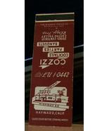Vintage Matchbook Cover A2 Hayward California Cozzi Cocktails Parties Ba... - $44.99