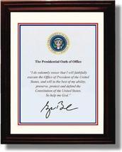 Framed George W Bush Autograph Replica Print - Presidential Oath of Office - $39.99
