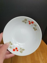 Noritake Casual China Berry Time Cereal Bowl White Red  - $8.90