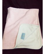 Blankets and Beyond Baby Blanket Solid Pink White Blue Label - $27.22