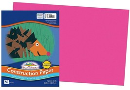 5 Packs Pacon - Sunworks 12x18 Hot Pink Construction Paper - 50 Sheets e... - $24.99