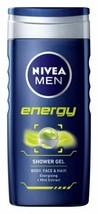 NIVEA FOR MEN SHOWER GEL ENERGY 250ML  - $17.88