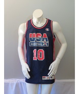 1992 Team USA Basketball Jersey-10 Clyde Drexler Euro Pro Cut-Champion -... - $179.00