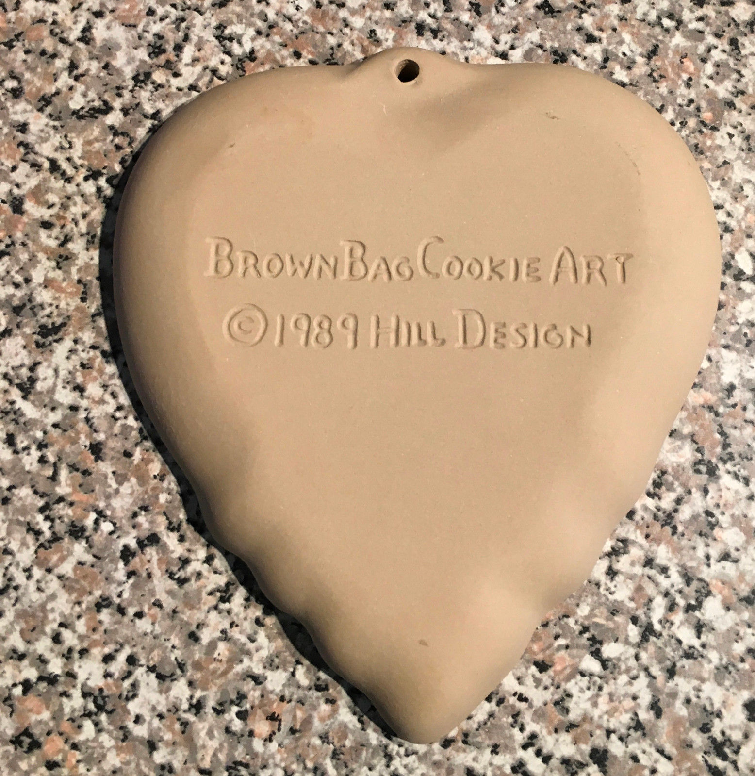 """BROWN BAG COOKIE MOLD """"HEART with TULIPS""""  DESIGN 1989"""