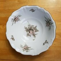 Johann Haviland Sepia Rose Round Serving Bowl 8 Inch Beige Pink Roses Flowers  - $3.47
