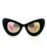 Super Oversize Occhiali da Sole Cateye Gatto Moda Donna Specchio Lenti U... - $12.90