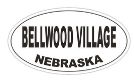 Bellwood Village Nebraska Oval Bumper Sticker or Helmet Sticker D5130 Oval - $1.39+
