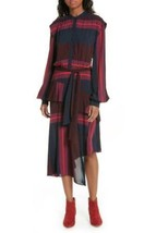 Joie Dress Roz Midi Long Sleeve Stripes Multicolor Sz 2 NEW NWT - $225.00