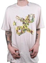 LRG Men's Natural Heather Floral Cursive L-R-G Logo T-Shirt NWT