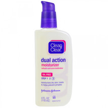 Clean and Clear, Dual Action Moisturizer, Salicylic Acid Acne Medication... - $14.15