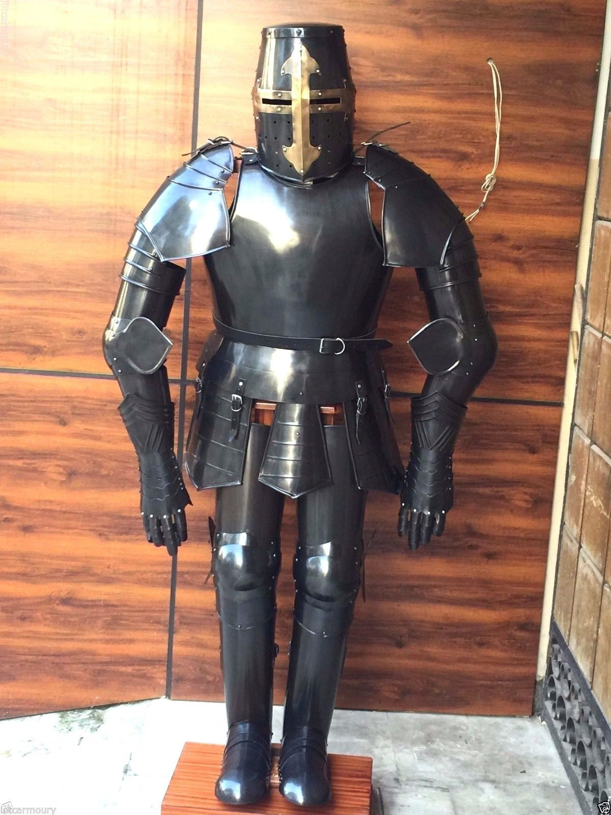 Primary image for NauticalMart Medieval Knight Black Crusader Suit Of Armor