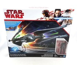 Star Wars Kylo Ren Tie Silencer Vehicle Ship Tie Pilot Action Figure Set... - $54.36