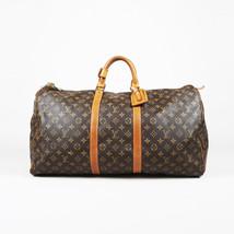 """VINTAGE Louis Vuitton Brown Monogram """"Keepall 55"""" Duffel Bag - $1,005.00"""