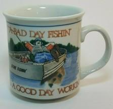 Otagiri Coffee Mug New A Bad Day Fishing Beats a Good Day Working, Made in Japan - $19.77