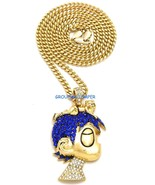 LUV Uzi Smaller Necklace New Iced Out Pendant With 24 Inch Length Chain ... - $24.81