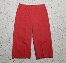 Talbots Petite Heritage Women's Capri Pants ~ Sz 4P ~ Red ~ 4 Pockets - $14.84