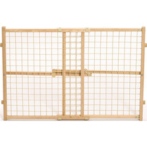 Midwest Homes For Pets Natural Wood/wire Mesh Pet Gate 24h X 29-41.5 027... - $43.81