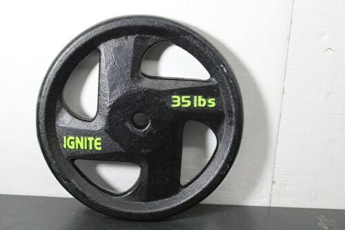 "35 lb 1"" Barbell Cast Iron Weight Plate Ignite"