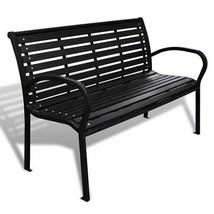 vidaXL Garden Bench Steel Porch Patio Park Path Chair Outdoor Deck Seating - $160.99