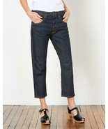 6397 Dark Shorty Jeans Sz 26 Selvedge High Rise Cropped Button Fly Pockets  - $309.77