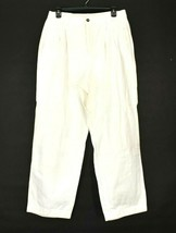 Lizsport Liz Claiborne Women's Size 14 100% Cotton Straight White Pants - $17.99