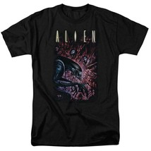 Alien Movie T-shirt Horror Action Sci Fi graphic black tee Retro 80s TCF277 image 1