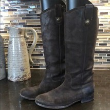 Frye Mellissa Button Brown Leather Riding Boots - $123.35