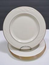"4 Lenox Golden Sand Dune Lunch Salad Dessert Plates 8"" Excellent - $29.70"