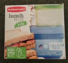 NEW - Rubbermaid Lunch Blox For Kids Lunch Perfectly Packed - Blue Ice I... - $14.99