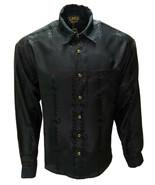 Jackard Solid Shirt Long Sleeve Scorpion Design Made in USA Cowboy Weste... - €13,70 EUR