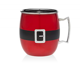 Godinger Moscow Mule Holiday Mug Santa Belt - RED - $19.95