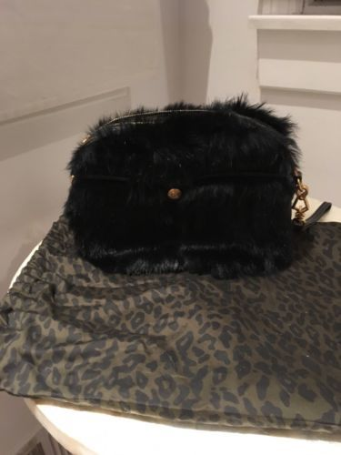 Primary image for NWT Rebecca Minkoff Rumor Black Bag or Wristlet. Retail $395 EUC Defect