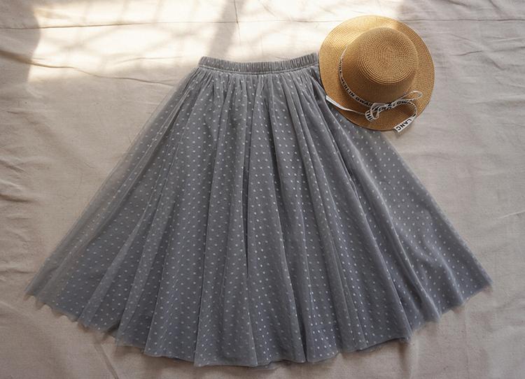 Gray tulle skirt midi 4