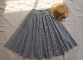 Black Midi Tutu Skirt Polka Dot Tulle Skirt Wedding Guest Skirt Outfit image 10