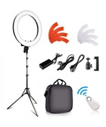 FOSITAN Ring Of Photo Of Camera Dimmable LED With 2M Support Receiver Bl... - $373.95