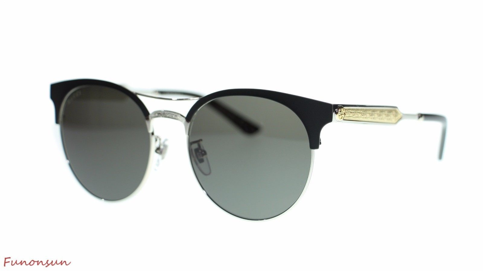 7b8bf85c2adbd Gucci Women Round Sunglasses GG0075 001 and 50 similar items. S l1600