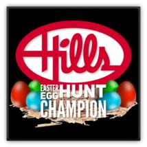 Hills Department Store Easter Egg Hunt Metal Magnet - $11.88