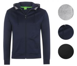 New Hugo Boss Men's Premium Zip Up Sport Hooded Sweatshirt Track Jacket 50333978