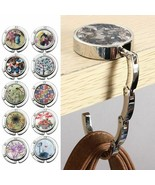Folding Handbag Portable Hook Lady Purse Hanger Round Table Hanging Acce... - $9.54